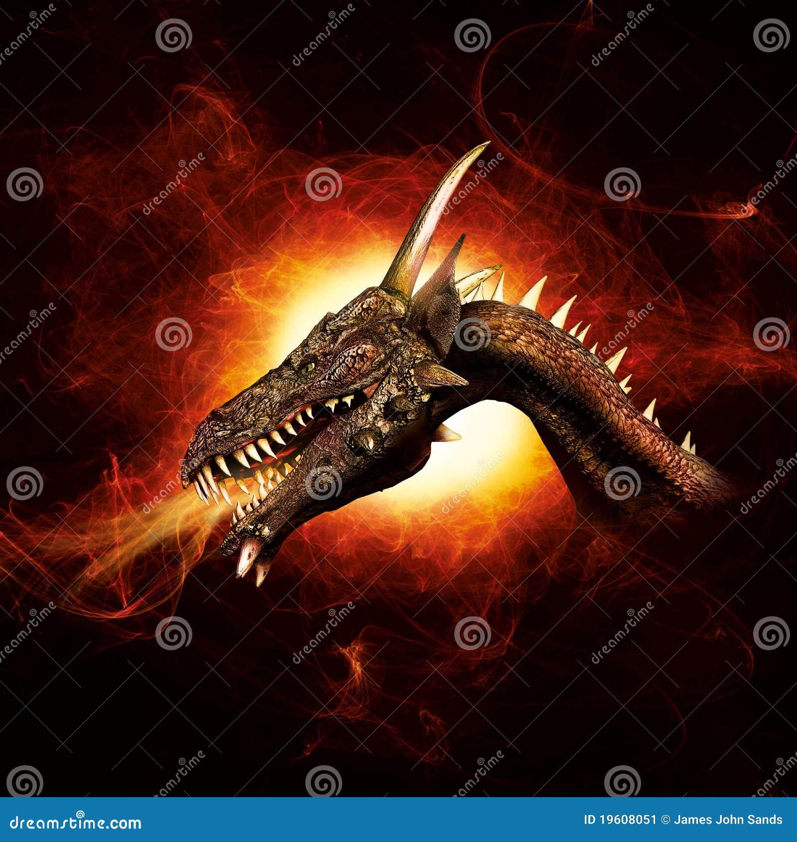 Dragón en llamas del plasma