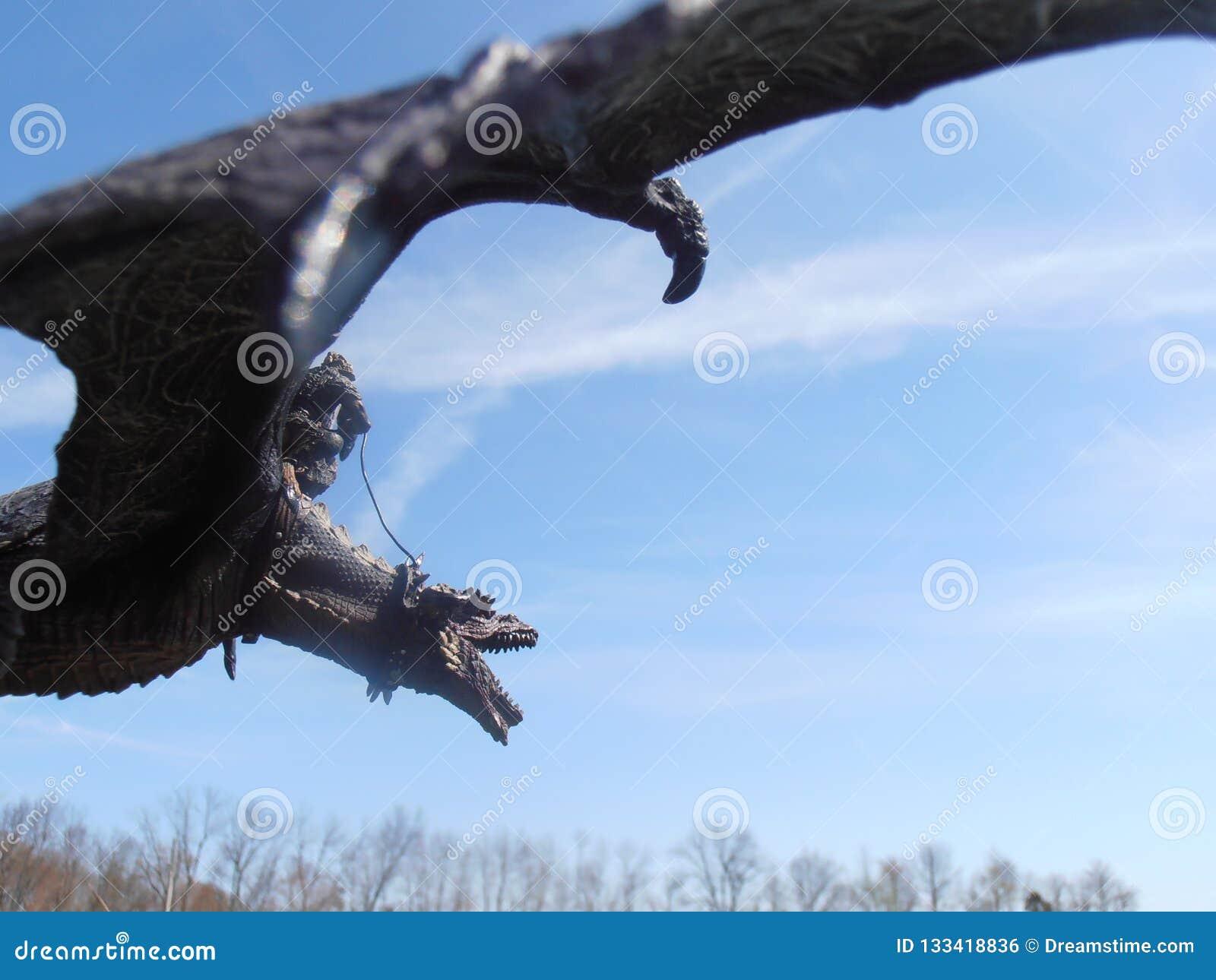 Dragón poderoso y su jinete