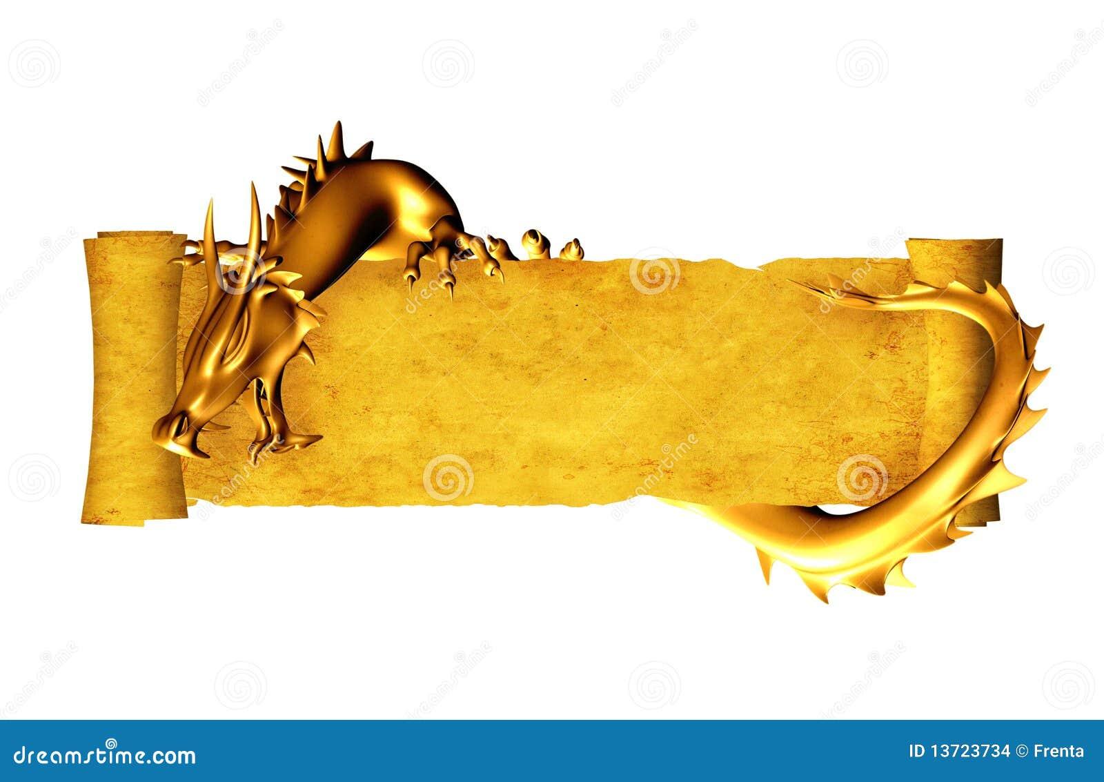 Dragón y desfile del pergamino viejo