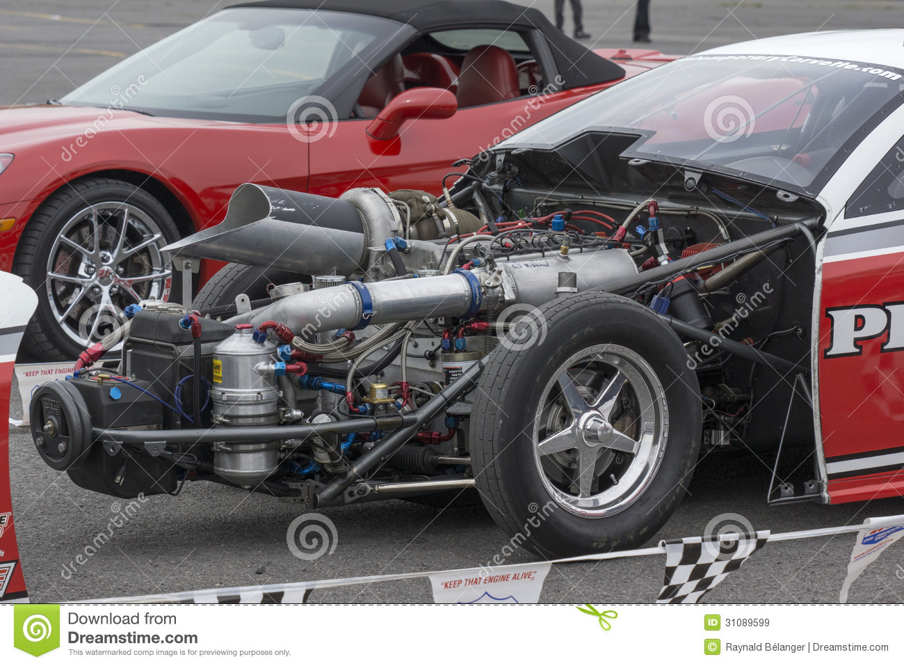 Drag car engine editorial stock image. Image of high - 31089599