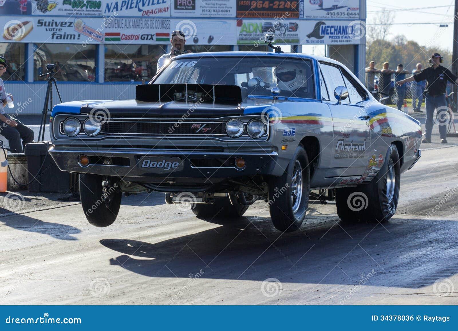Drag car wheelie editorial photo. Image of motor, race - 34378036