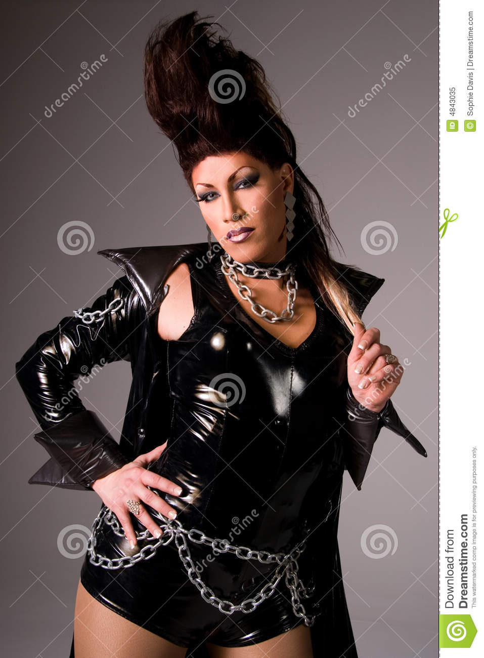Drag Queen Wearing Latex Stock Image Image Of Intense