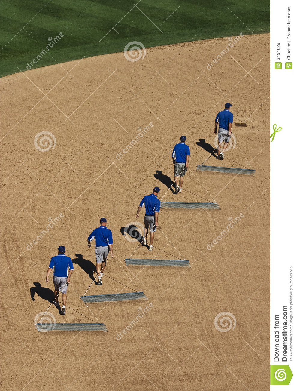 Dragging the field stock image. Image of baseball, stagger