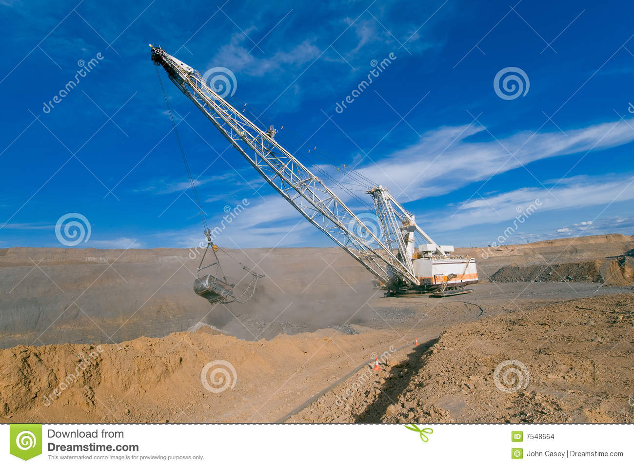 Dragline in open cut coal mine