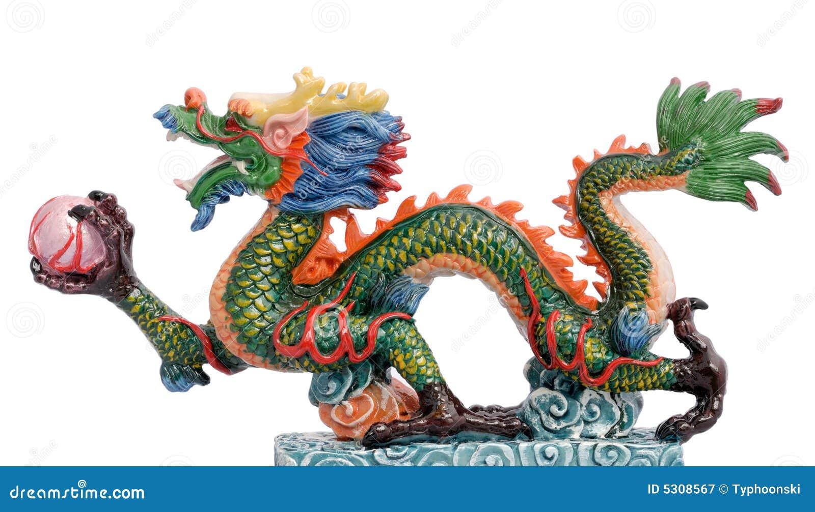 Download Drago cinese immagine stock. Immagine di colore, isolamento - 5308567