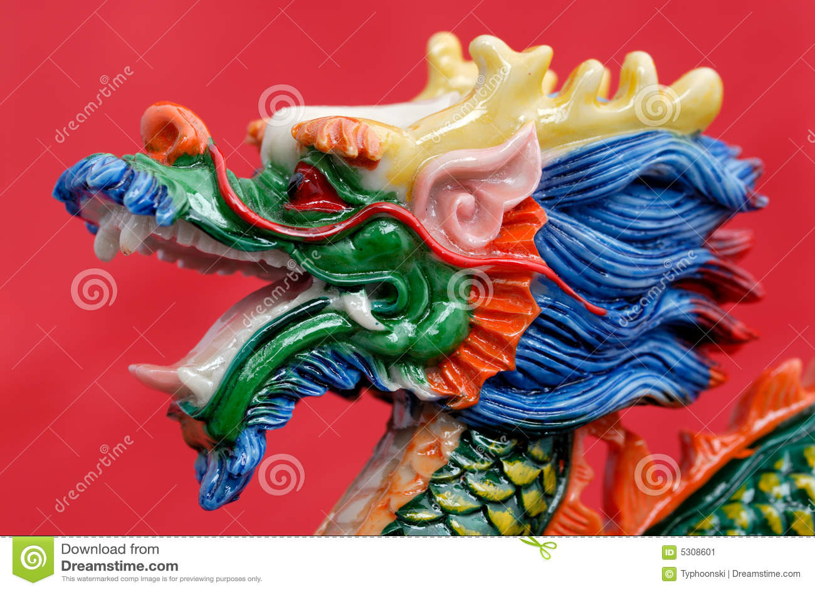 Download Drago cinese immagine stock. Immagine di decorativo, orientale - 5308601