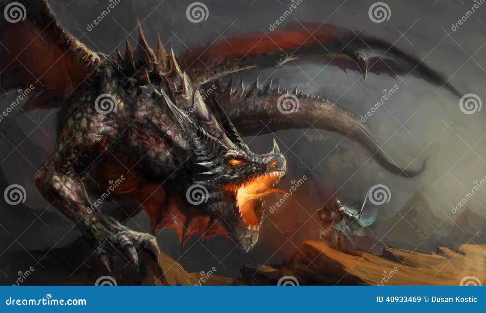 Drago di combattimento del cavaliere