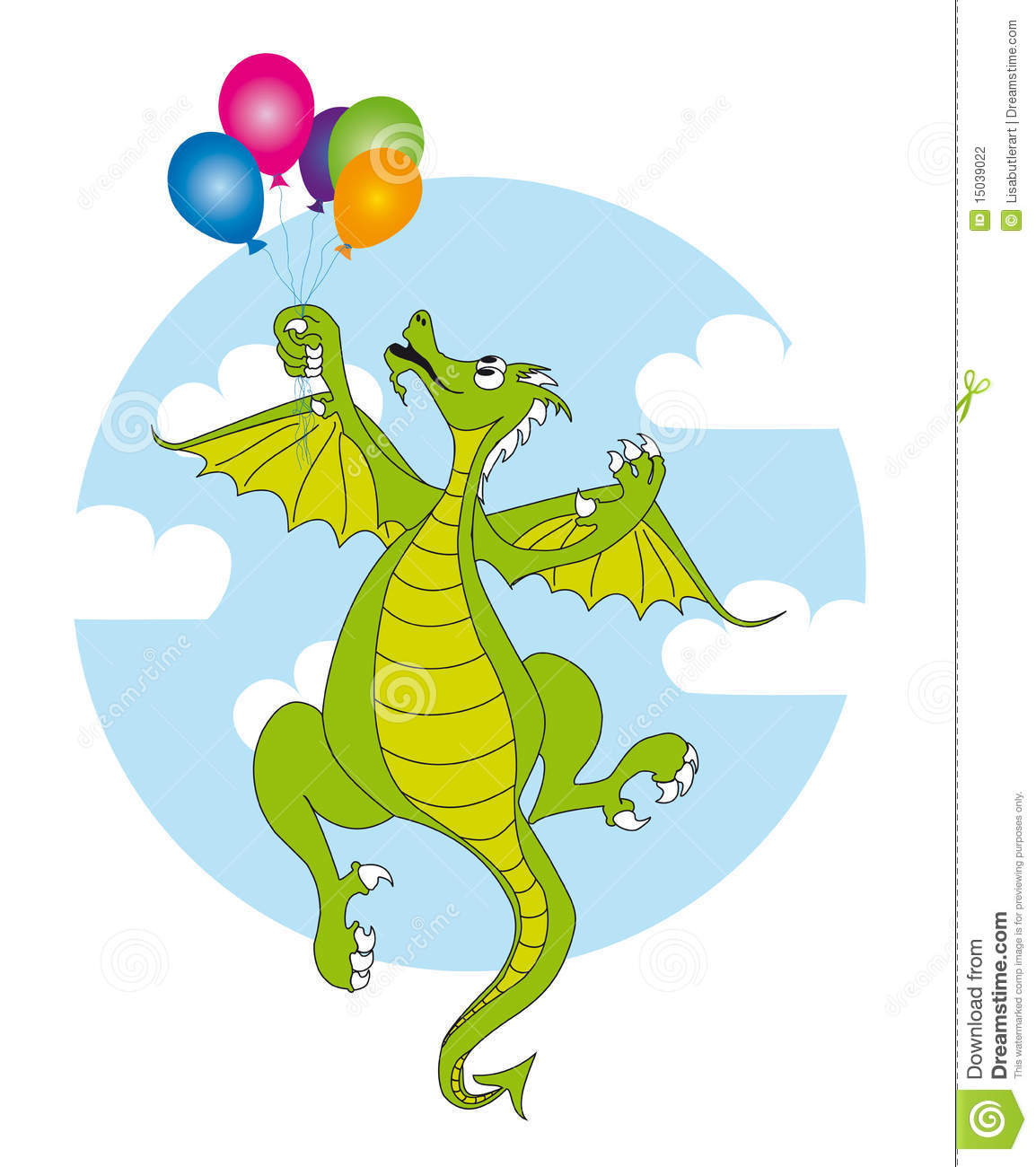 Dragon and balloons