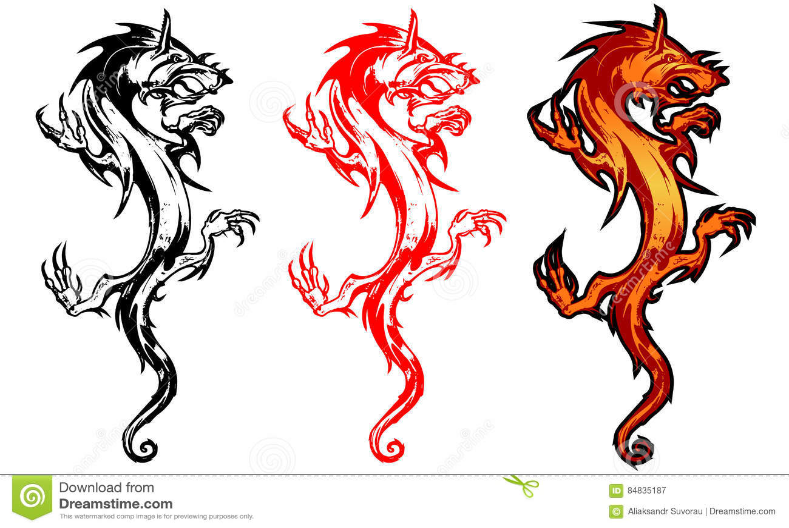 Dragon Stock Vector. Illustration Of Decoration, Black