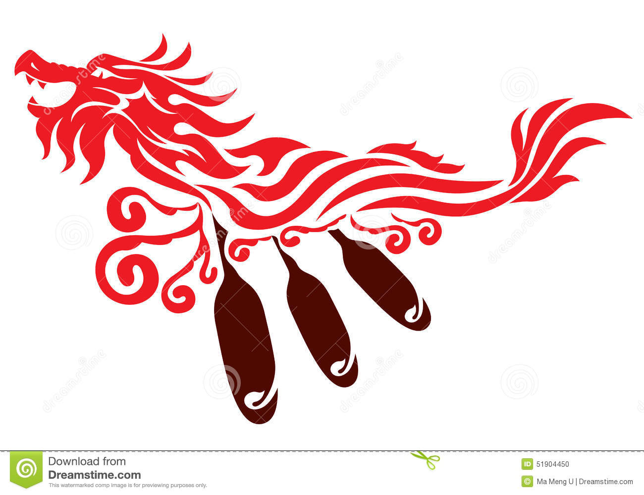 dragon boat graphic design stock vector image 51904450