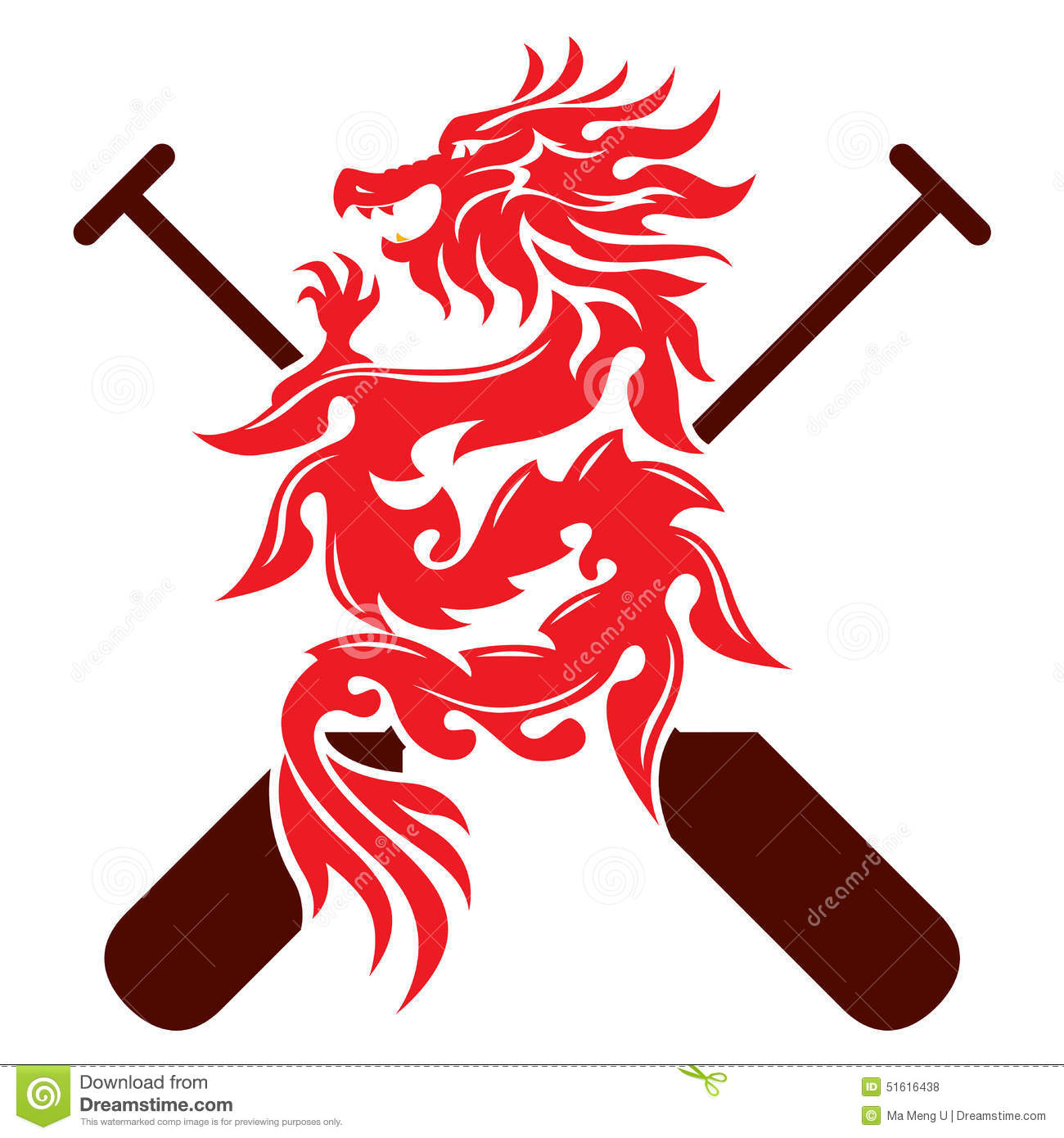 dragon boat graphic design stock vector image 51616438