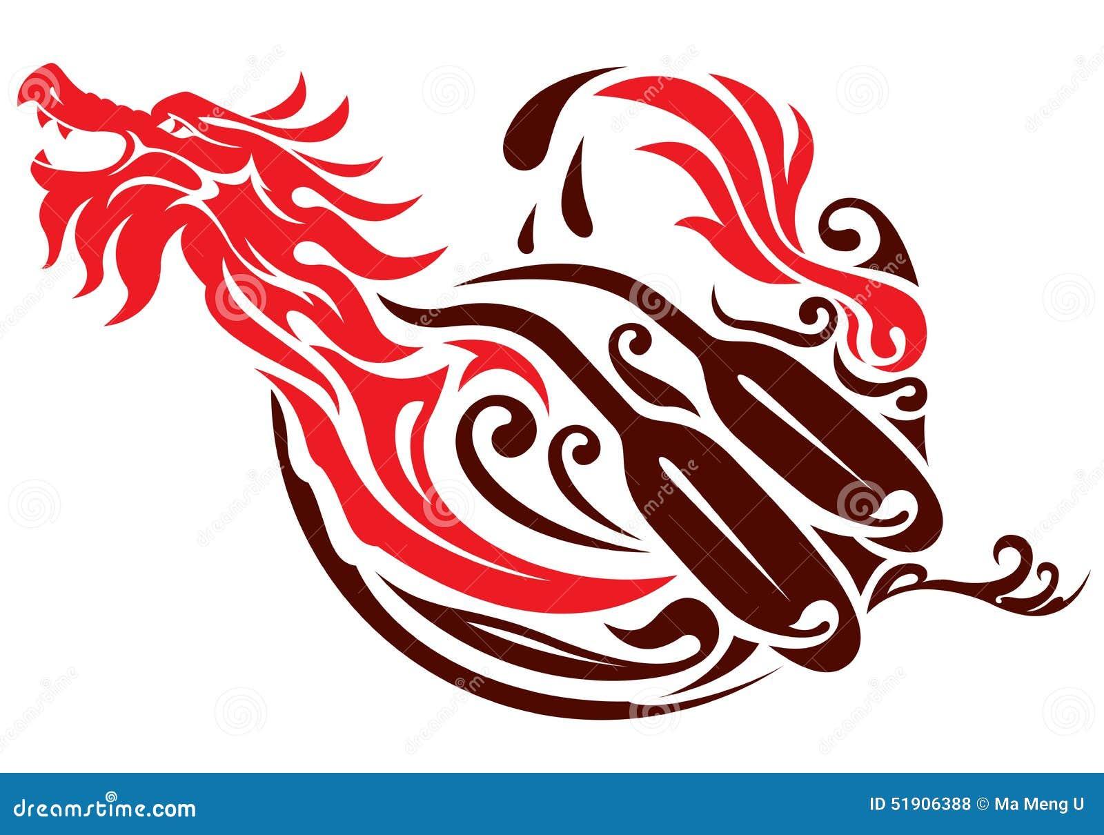abstract dragon design vector illustration cartoondealer