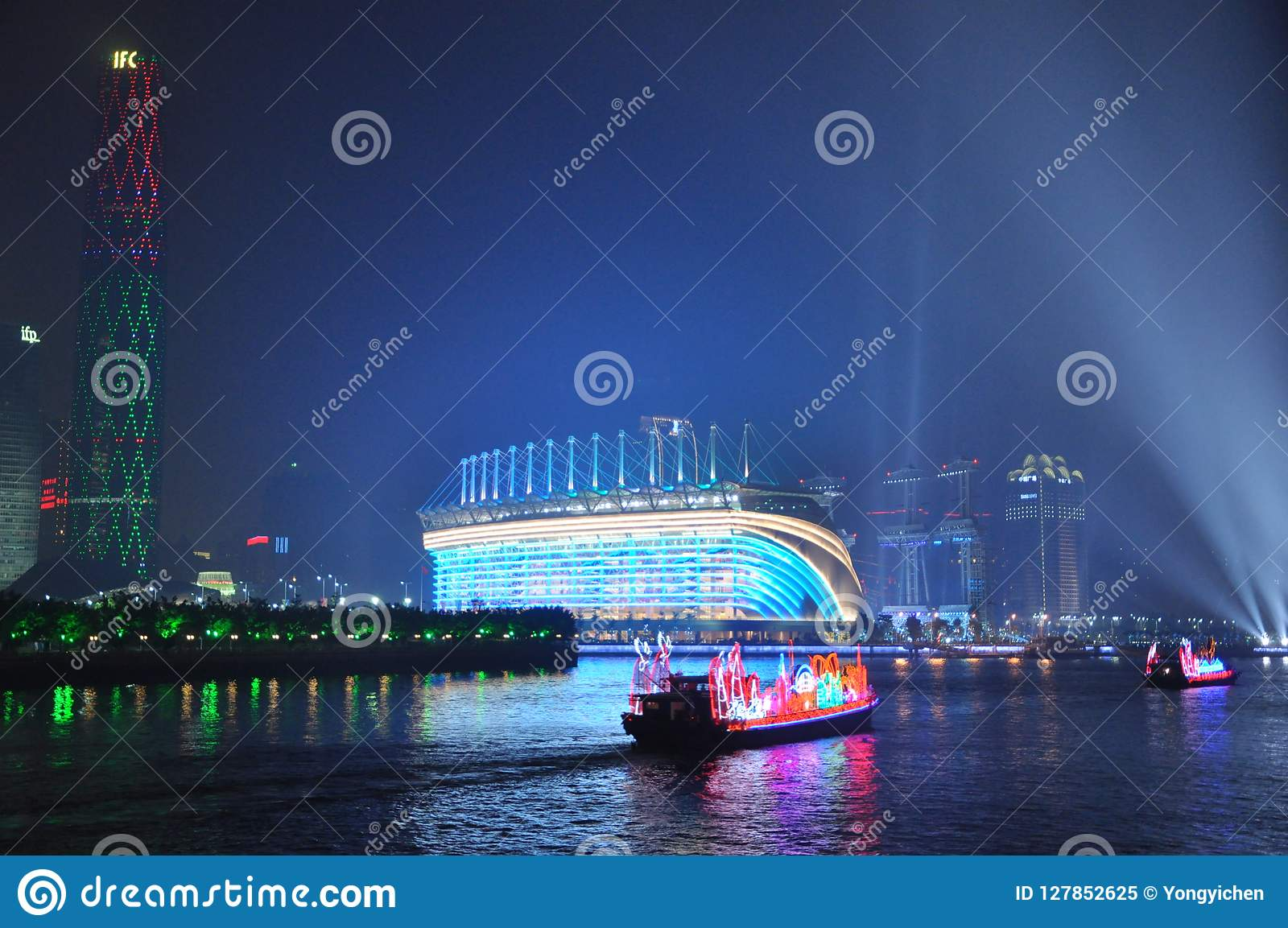Dragon Boat i den Guangzhou kantonen Kina