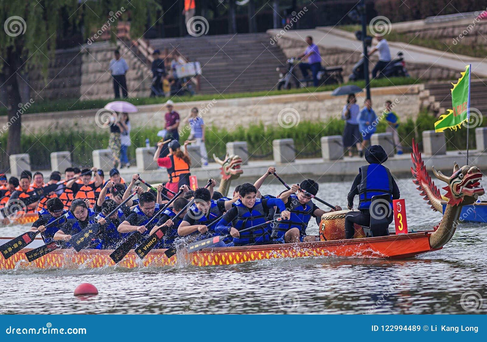 Dragon Boat Race on Dragon Boat Festival