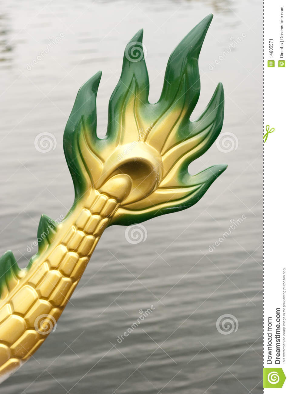 Dragon Boat Rear Tail stock image. Image of river, race ...