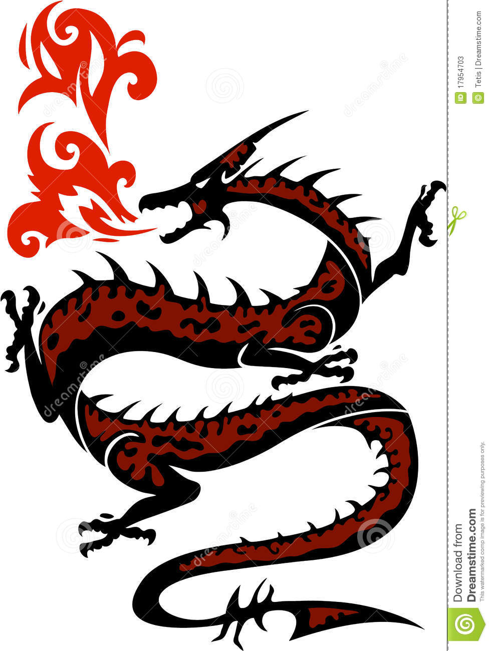 Dragon Breathing Fire Stock Photos Image 17954703
