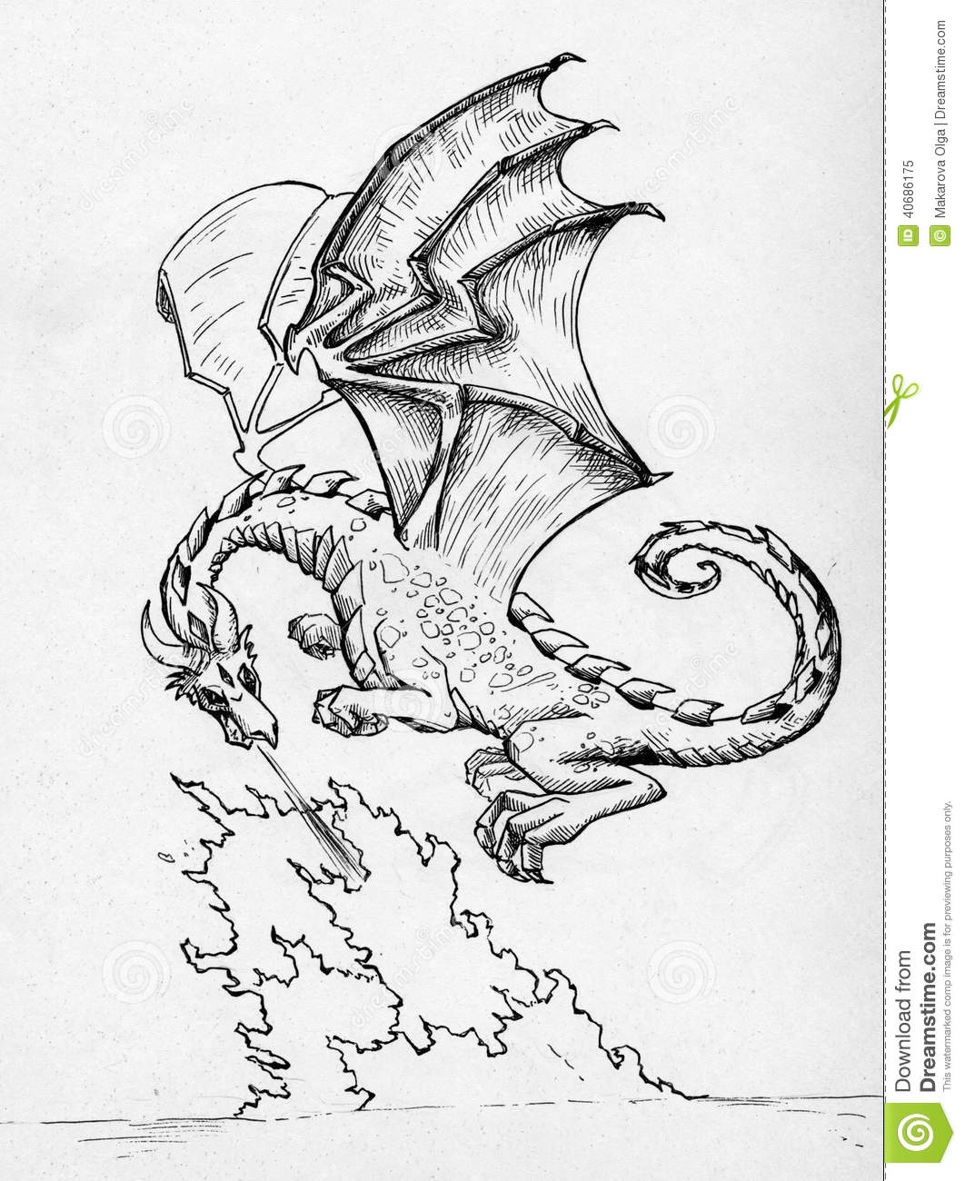 Dragon breathing fire stock illustration image of illustration royalty free stock photo download dragon breathing fire ccuart Choice Image