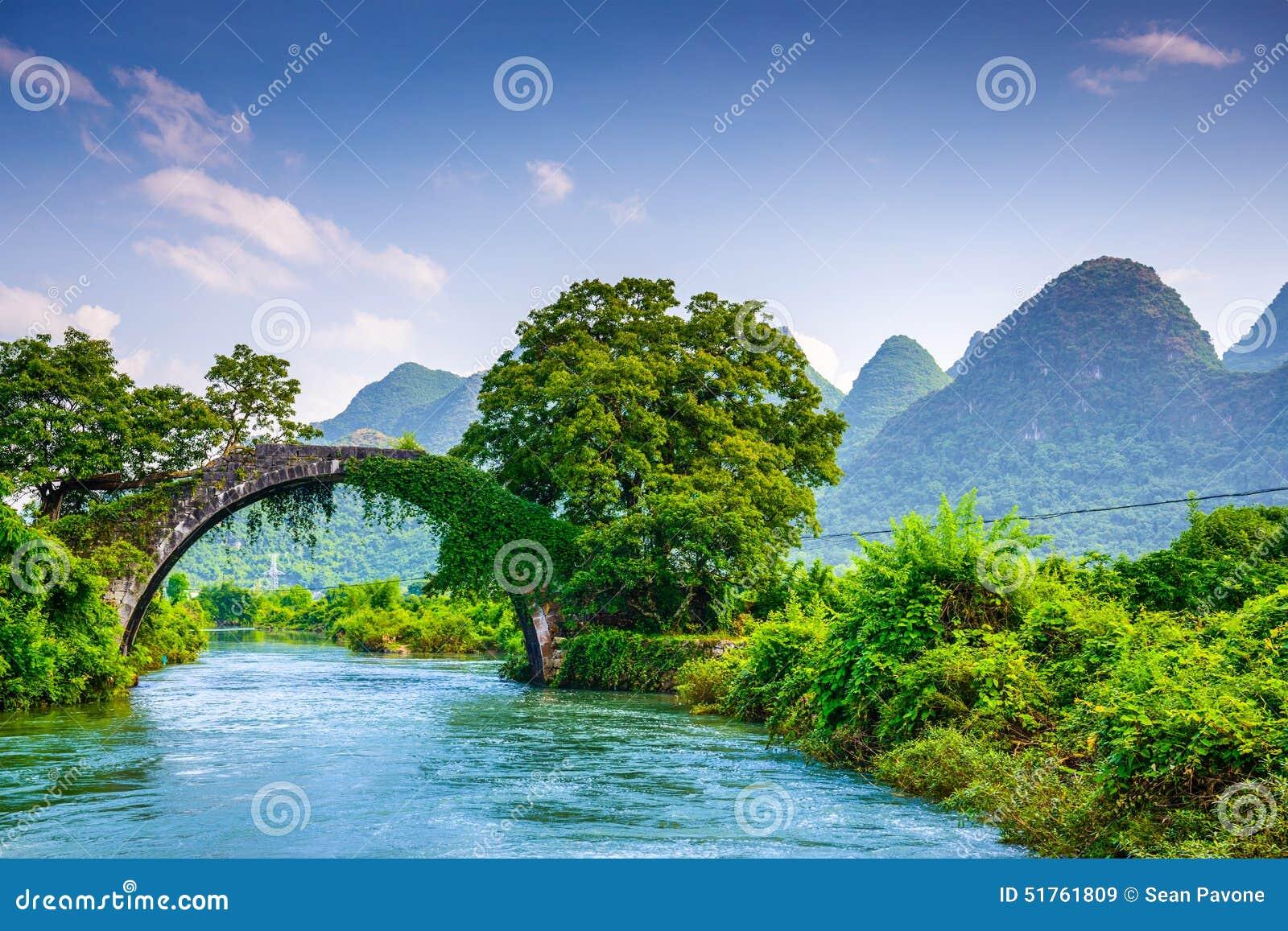 Dragon Bridge de Yangshuo, China