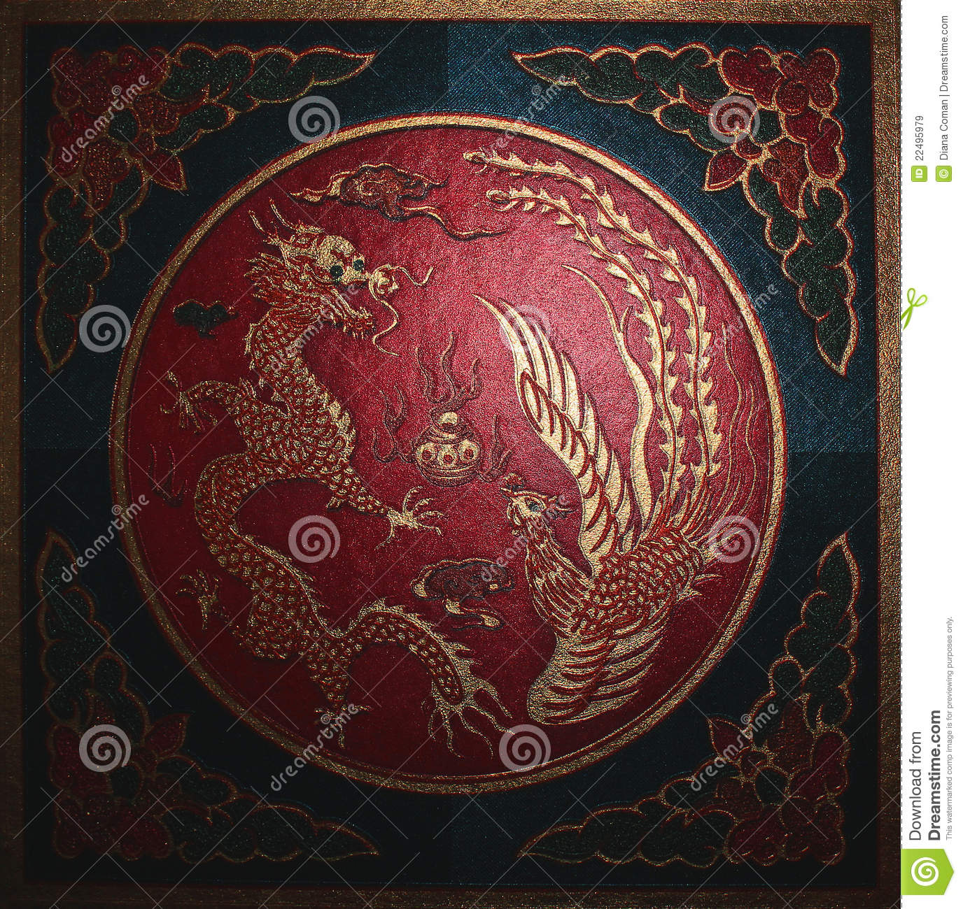 Dragon. Chinese symbols