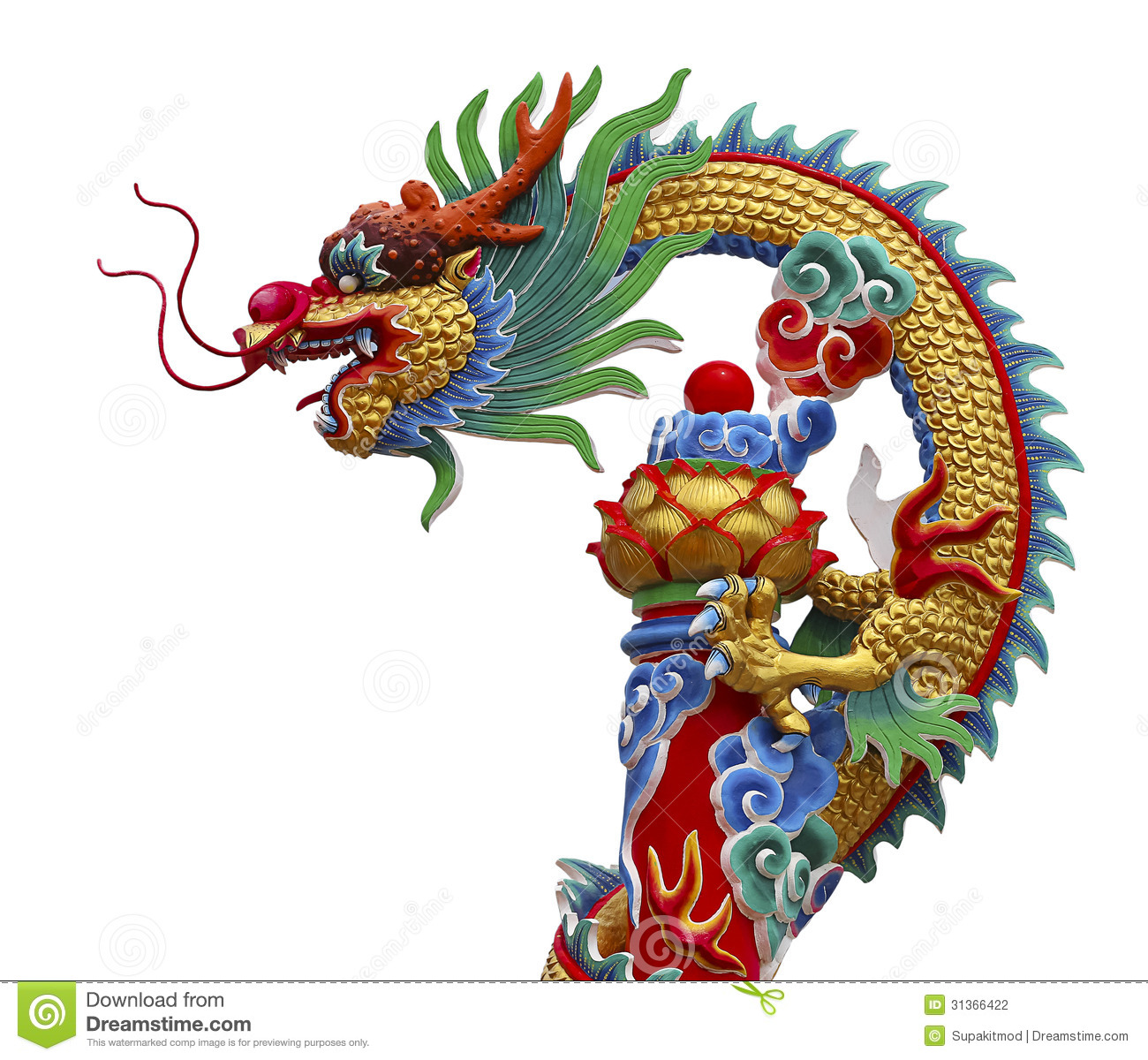 Dragon chinois photo stock image du color sculpture for Carpe chinoise prix