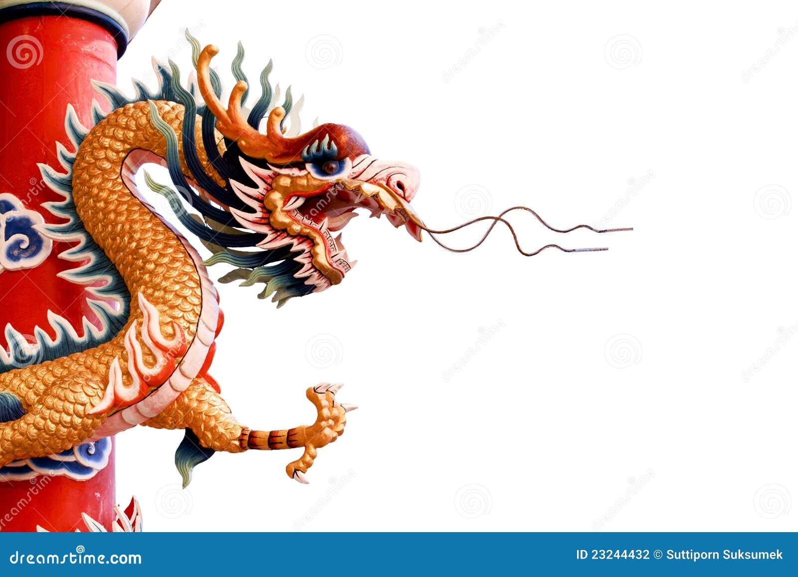 Dragon chinois sur le fond blanc photo stock image du - Images de dragons ...