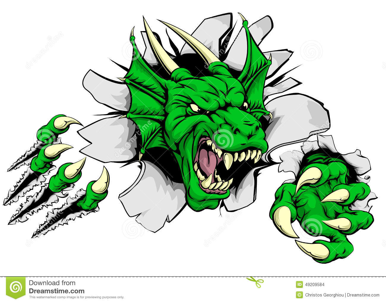 Dragon Claw Breakthrough Stock Vector Image Of Animal