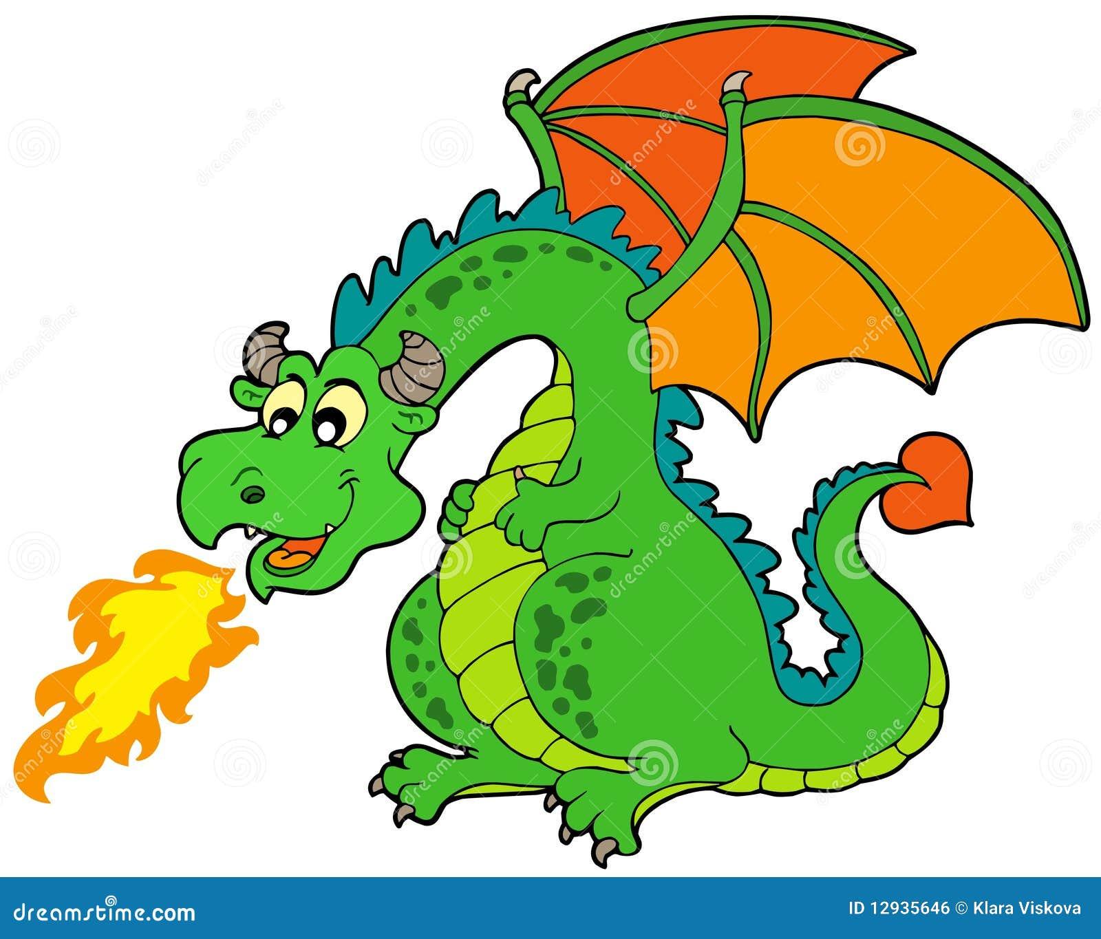 Dragon d 39 incendie de dessin anim illustration de vecteur illustration du dessin fairytale - Image de dessin anime gratuit ...