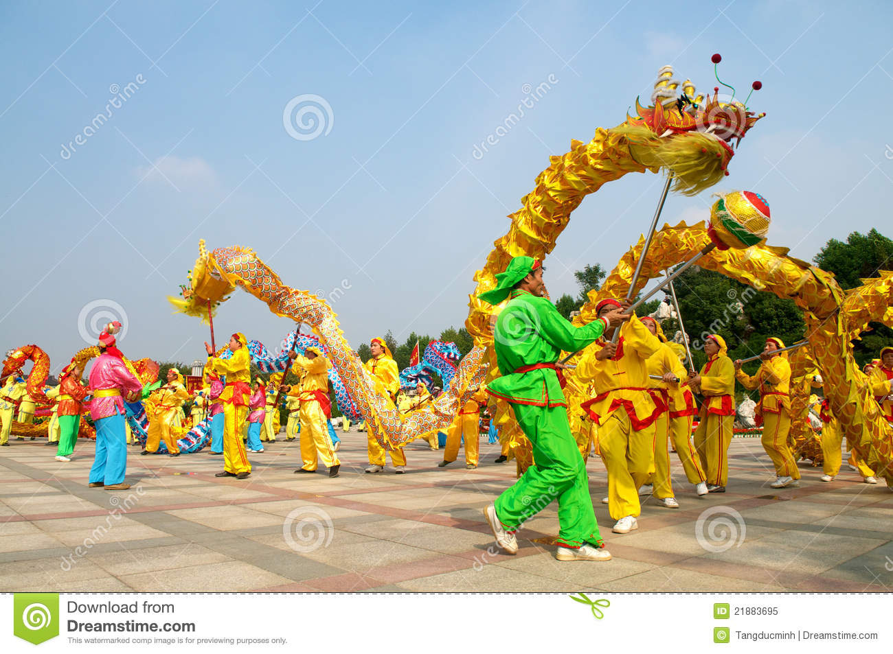 dragon dance editorial image image of colorful years 21883695