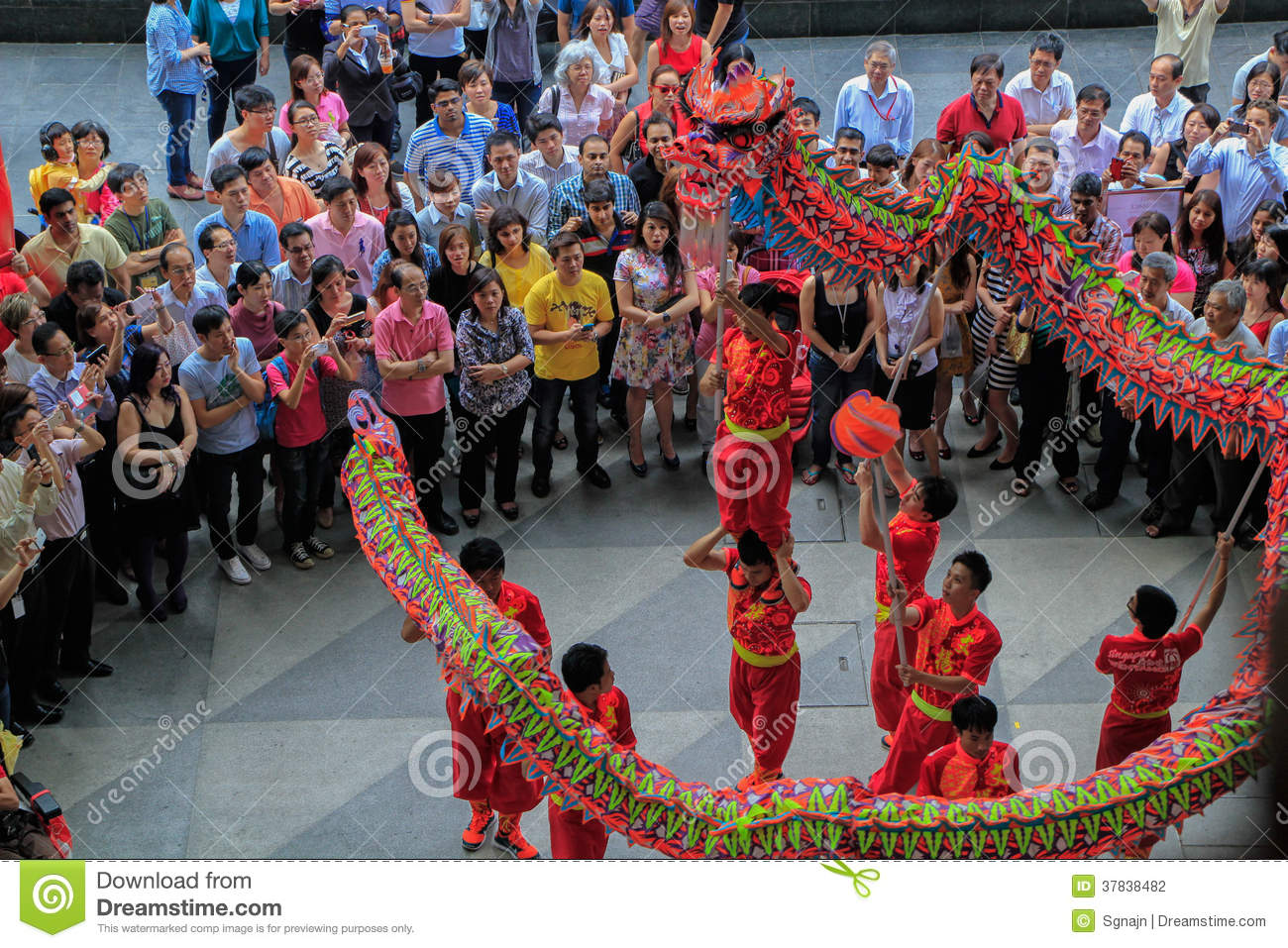 dragon dance during chinese new year editorial photography image