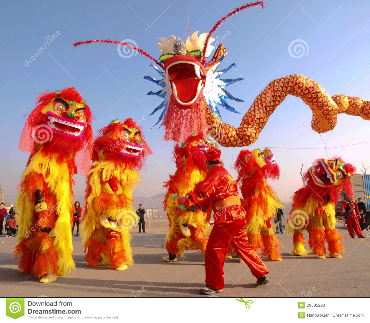 dragon dance lion dance editorial image image of power 29685220