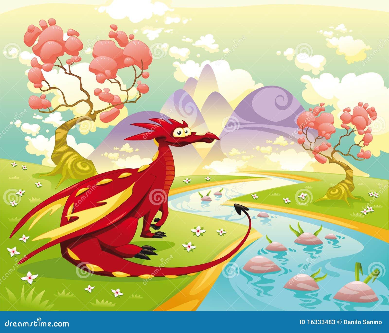 Dragon dans l horizontal.