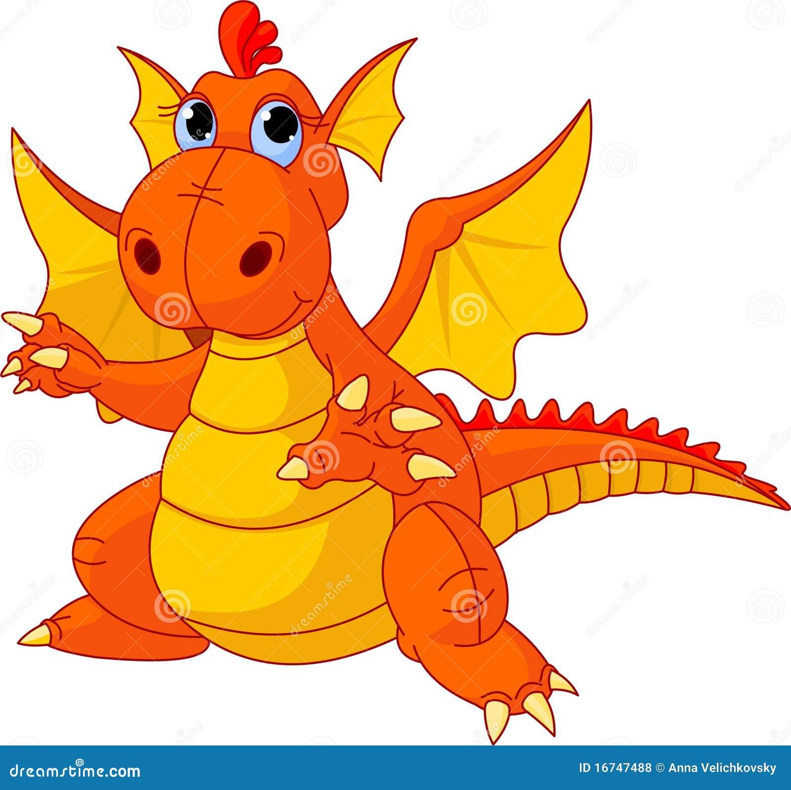 Dragon de chéri de dessin animé