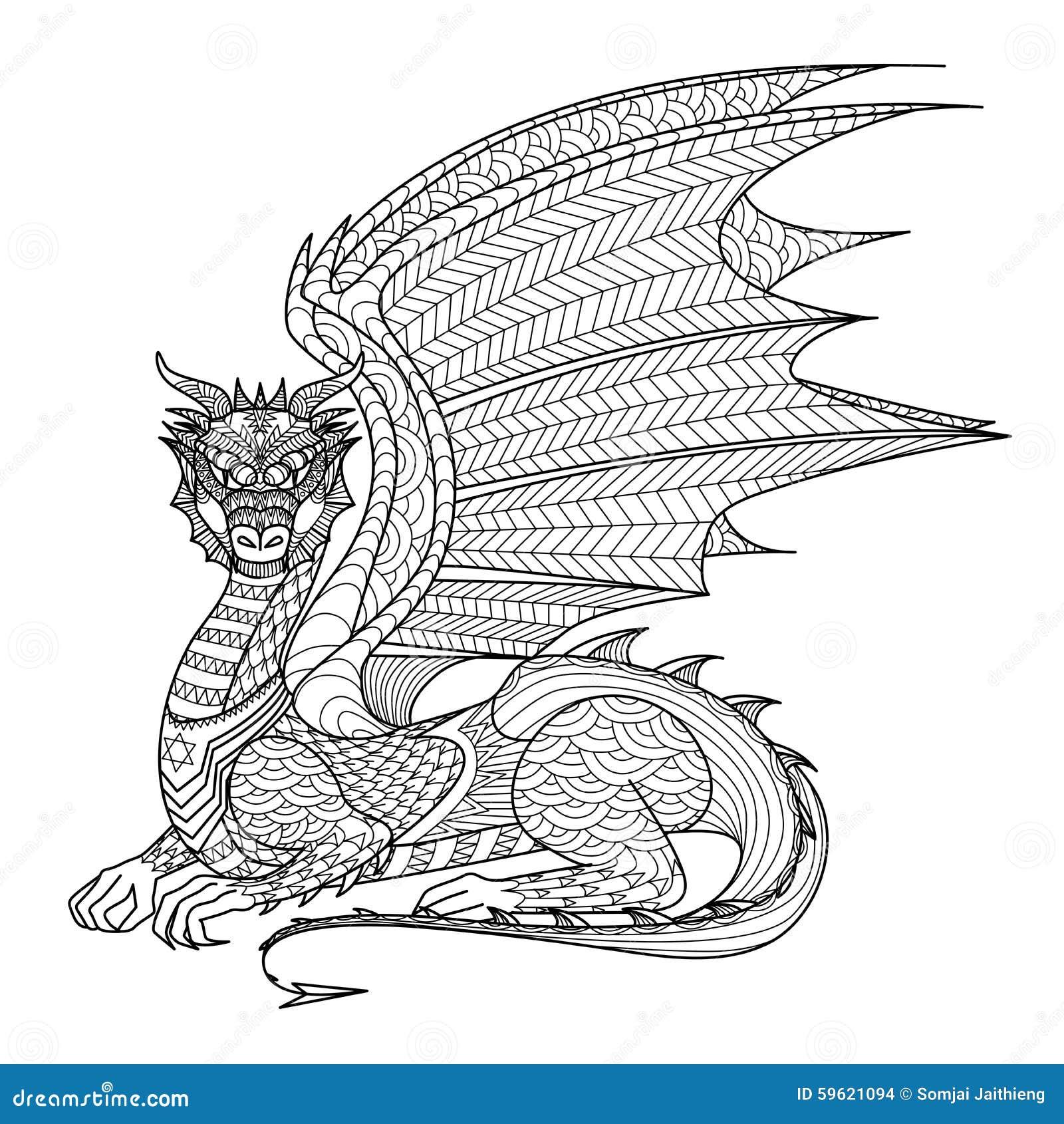 Libre de droits Download Dragon De Dessin Pour Livre De Coloriage