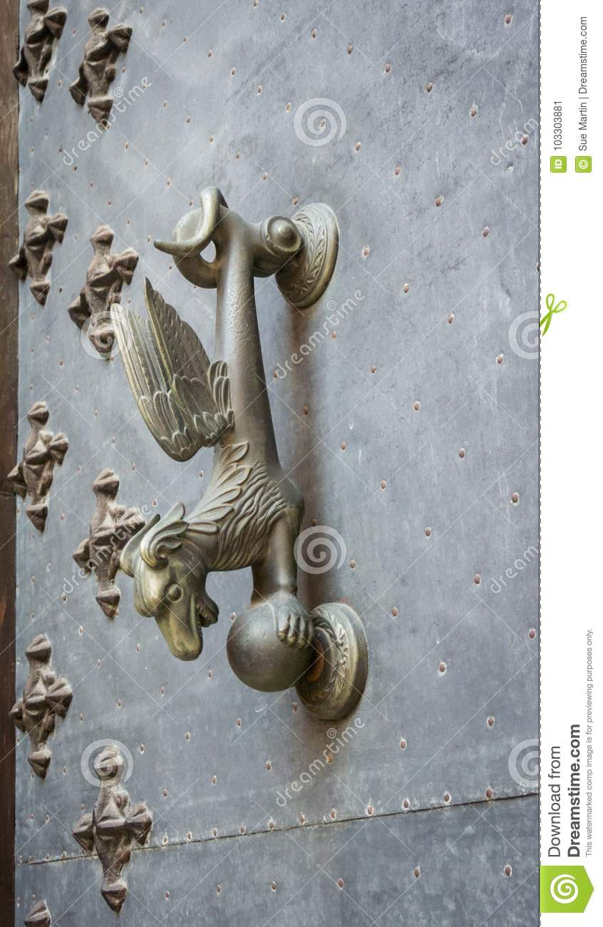 Download Dragon Door Knocker Stock Image. Image Of Decoration   103303881