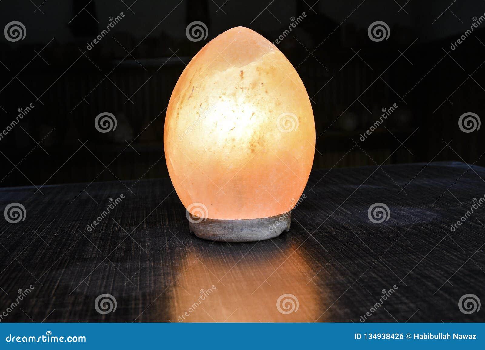 Dragon Egg Natural Salt Lamp Himalayan Salt Stock Photo Image Of