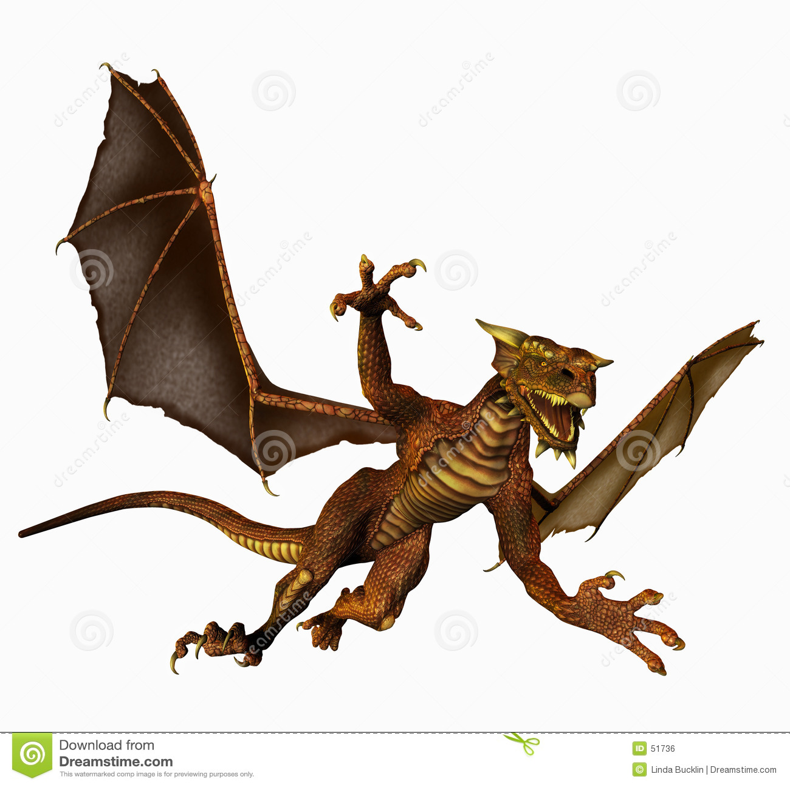 Download Dragon en vol illustration stock. Illustration du prédateur - 51736