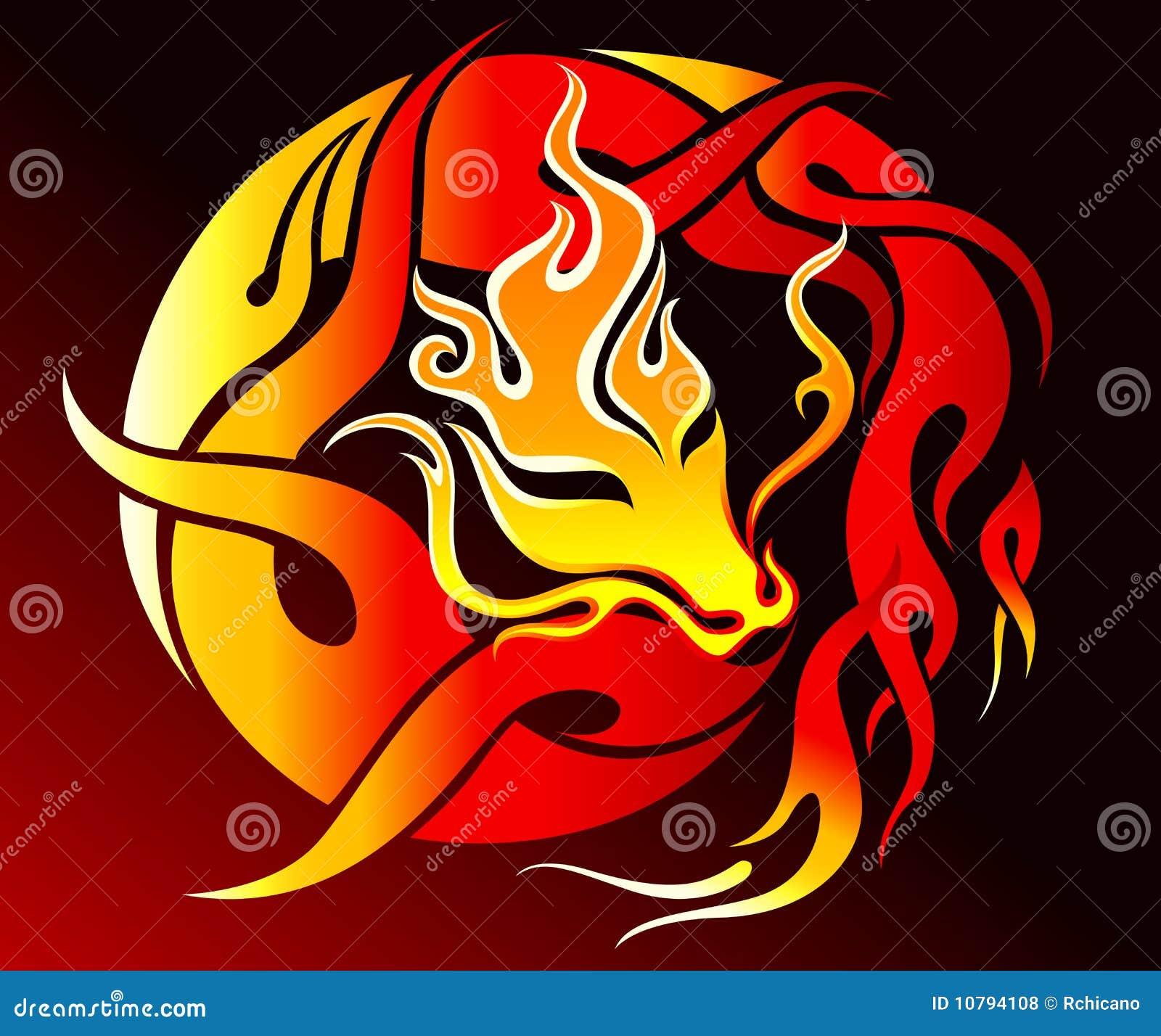 Tribal Fire Dragon