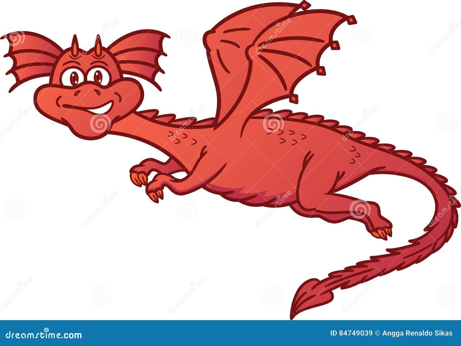 Dragon Flying Cartoon