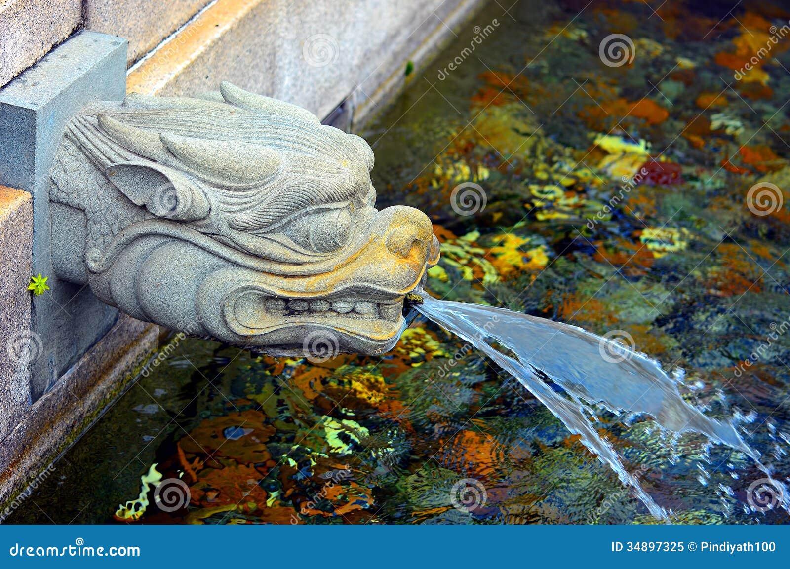 Dragon Fountain Head Royalty Free Stock Photo Image