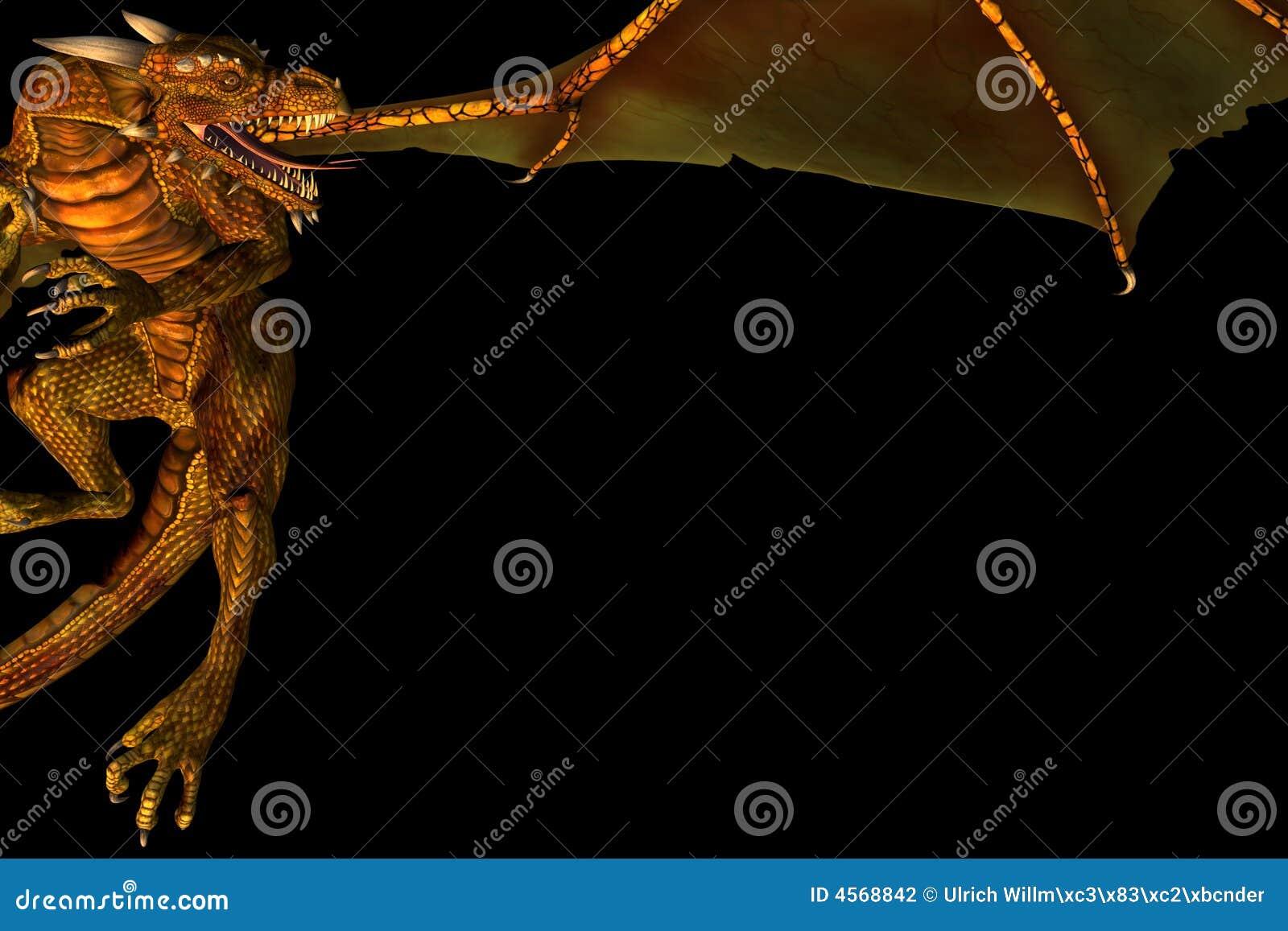 Dragon frame stock illustration. Illustration of myth - 4568842