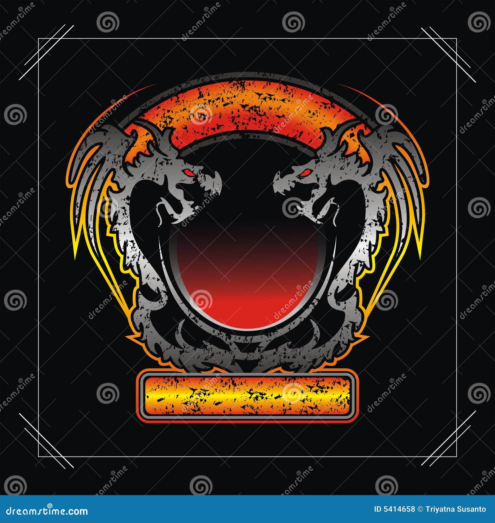 Dragon frame stock vector. Illustration of material, element - 5414658