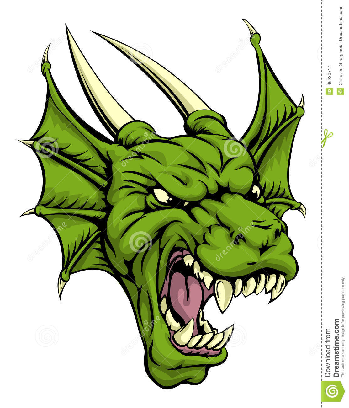 dragon head illustration stock vector image 46230314 chinese dragon clipart free oriental dragon clipart