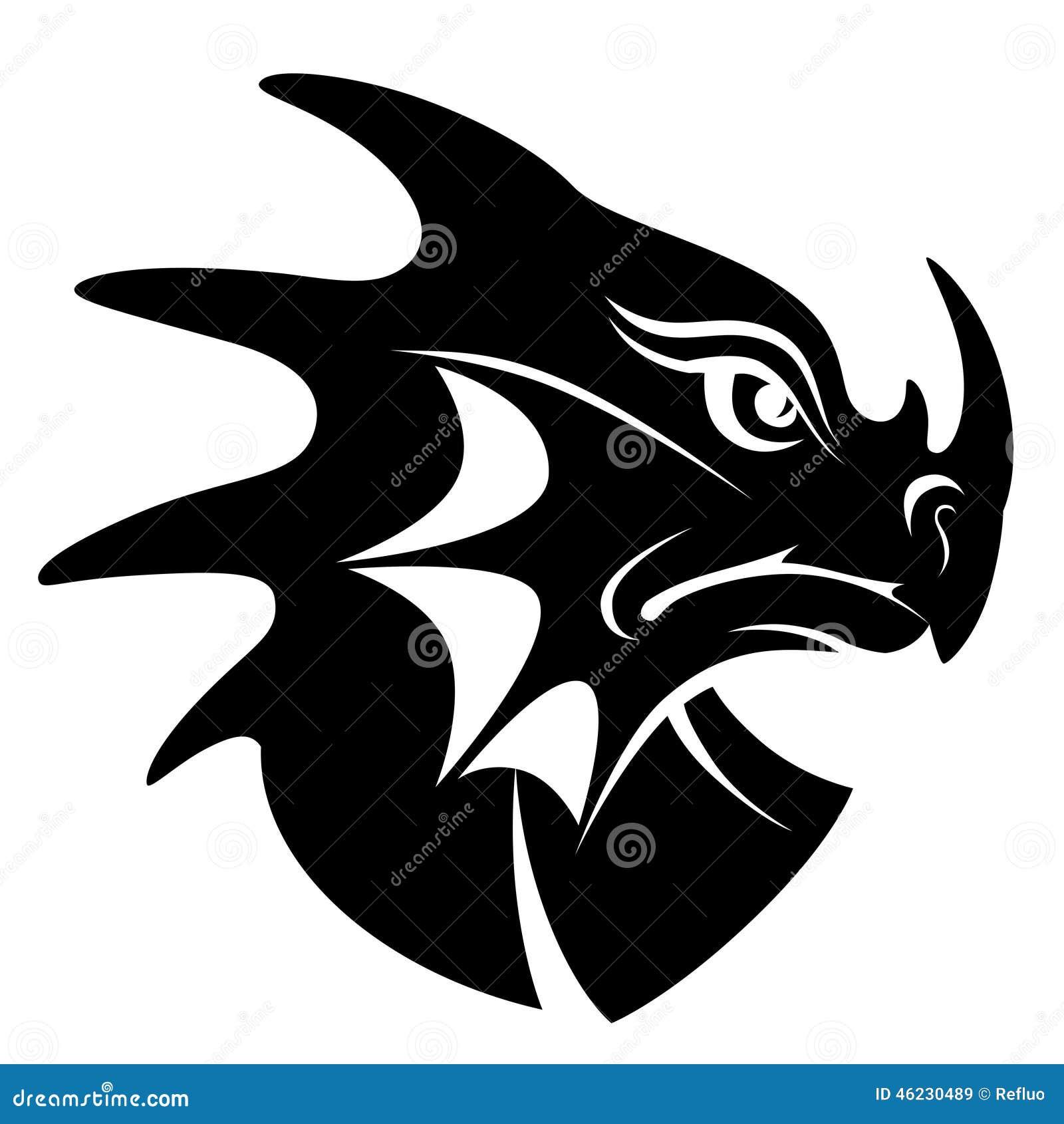Dragon Head Symbol Stock Vector - Image: 46230489