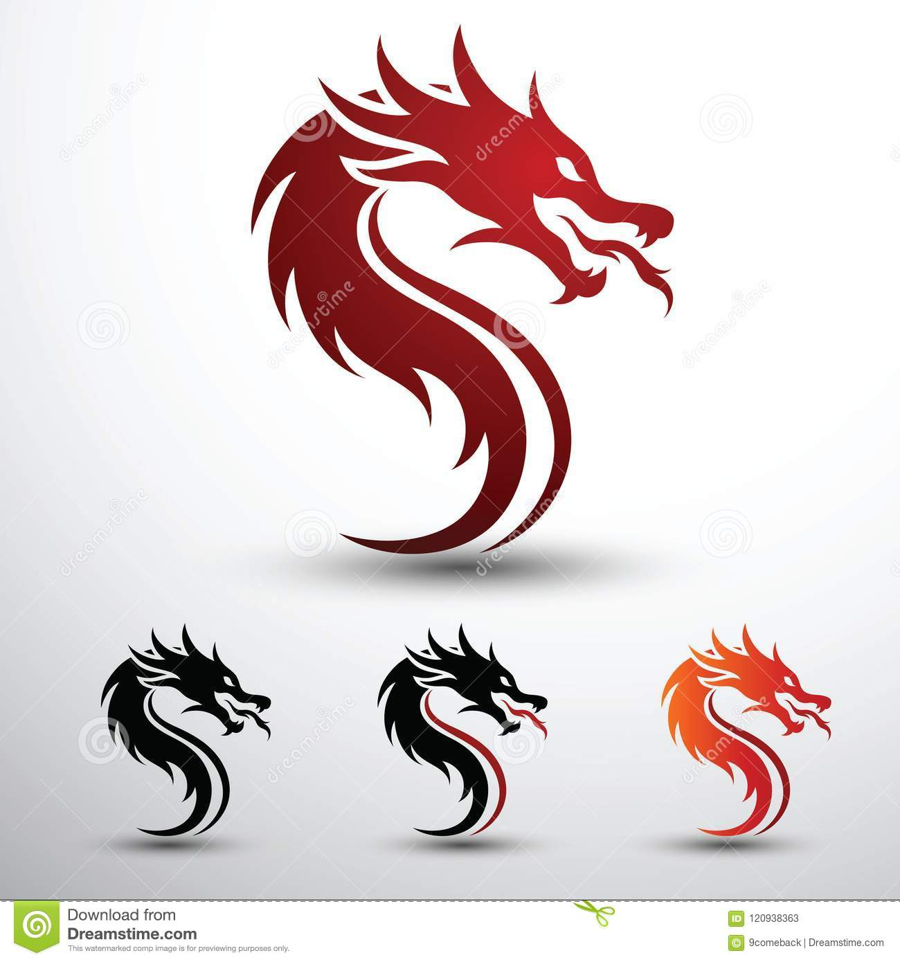 dragon head vector stock vector illustration of china 120938363
