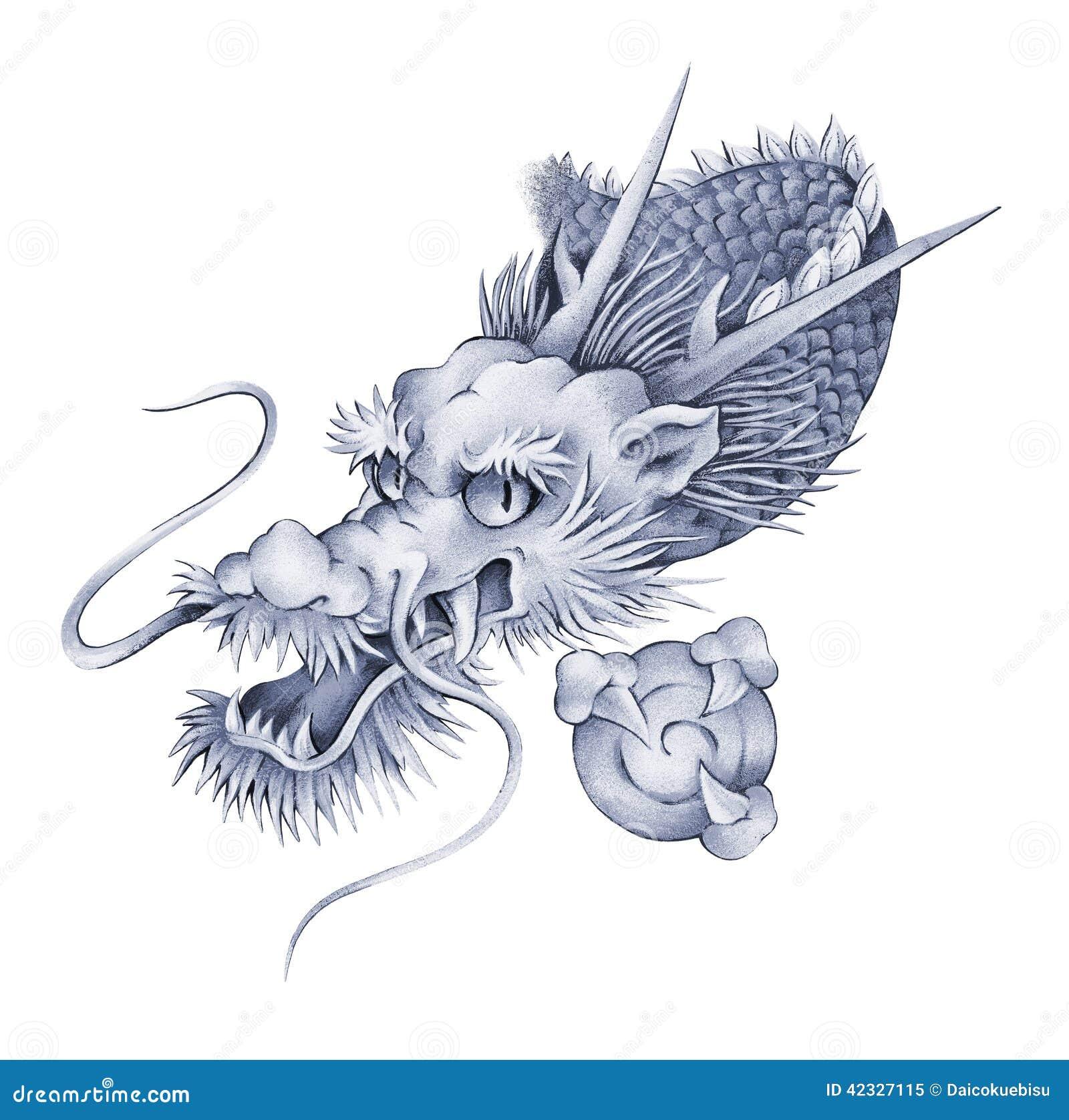 dragon japonais illustration stock illustration du image 42327115. Black Bedroom Furniture Sets. Home Design Ideas
