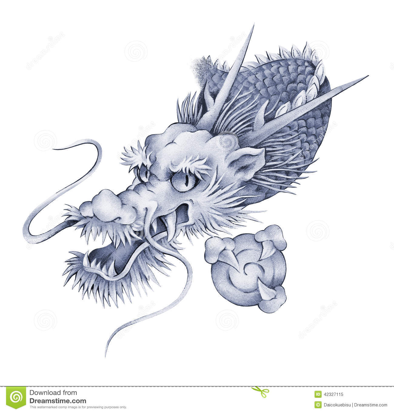 Dragon japonais illustration stock illustration du image 42327115 - Dragon japonais dessin ...