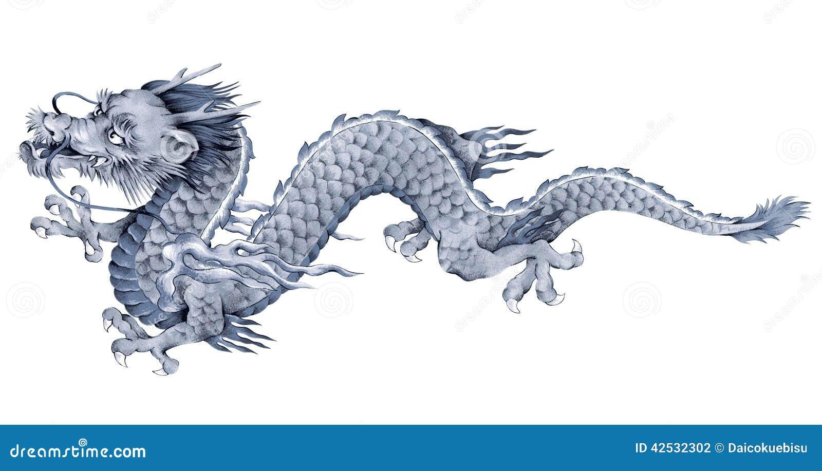 dragon japonais illustration stock illustration du freehand 42532302. Black Bedroom Furniture Sets. Home Design Ideas