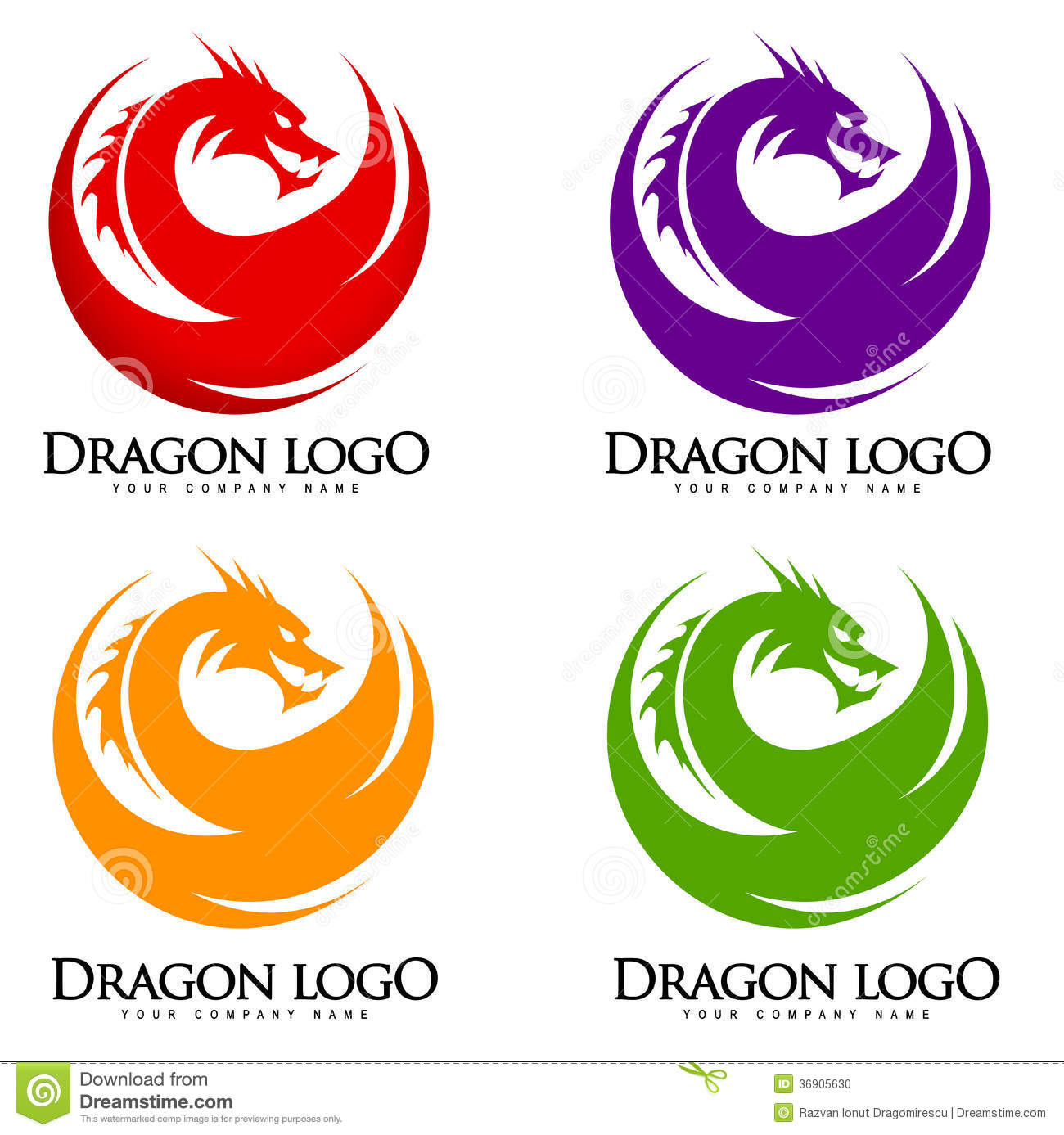 Illustration representing a red dragon logo with wings and angry face.