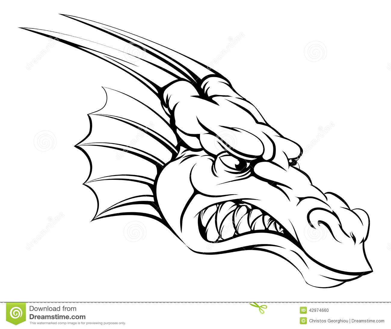 Dragon Mascot Stock Vector Image 42974660