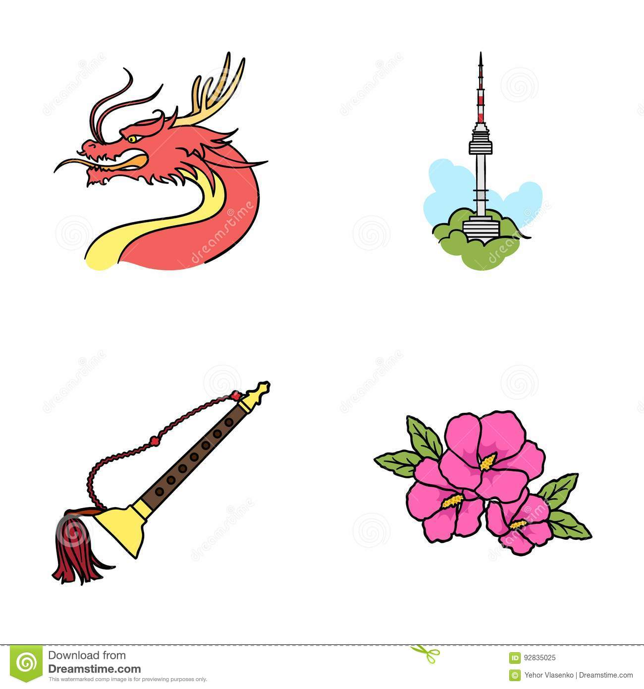 Dragon With Mustache Seoul Tower National Musical Instrument